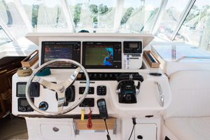 Sea Duction is a Grady-White 37 Express Yacht For Sale in St Petersberg-2013 Grady-White 37 Express - Northern Reign - Helm-3
