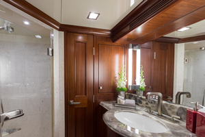 MY AURORA is a Nordhavn  Yacht For Sale in Fort Lauderdale-Queen Guest Stateroom Aft Bath-32