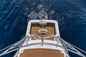 Cool Daddio is a Cabo 44 HTX Yacht For Sale in Hyannis-Cockpit viewed from Tower-29