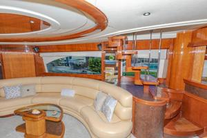 Salon Port With Interior Stairs To Flybridge