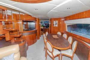Formal Dining And Stairwell To The Flybridge