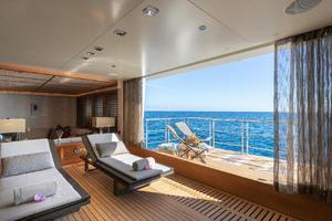 Mid-ship, Lower Deck Spa with Hull-Side Balcony to Sea