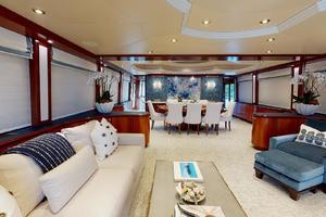 WONDER is a Crescent Raised Pilothouse Yacht For Sale in West Palm Beach-Salon-7