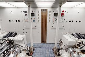 WONDER is a Crescent Raised Pilothouse Yacht For Sale in West Palm Beach-Engine Room-54