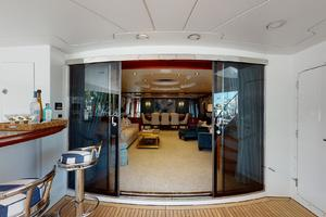 WONDER is a Crescent Raised Pilothouse Yacht For Sale in West Palm Beach-Aft Deck-4