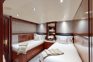 WONDER is a Crescent Raised Pilothouse Yacht For Sale in West Palm Beach-Stbd Guest Stateroom w Pullman-43