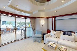 WONDER is a Crescent Raised Pilothouse Yacht For Sale in West Palm Beach-Salon-6