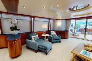 WONDER is a Crescent Raised Pilothouse Yacht For Sale in West Palm Beach-Salon-5