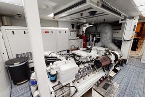 WONDER is a Crescent Raised Pilothouse Yacht For Sale in West Palm Beach-Engine Room-53