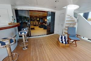 WONDER is a Crescent Raised Pilothouse Yacht For Sale in West Palm Beach-Aft Deck-3