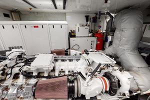 WONDER is a Crescent Raised Pilothouse Yacht For Sale in West Palm Beach-Engine Room-51