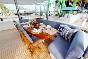 WONDER is a Crescent Raised Pilothouse Yacht For Sale in West Palm Beach-Aft Deck-2