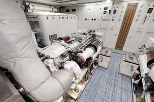 WONDER is a Crescent Raised Pilothouse Yacht For Sale in West Palm Beach-Engine Room-50