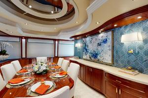 WONDER is a Crescent Raised Pilothouse Yacht For Sale in West Palm Beach-Dining-9