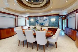 WONDER is a Crescent Raised Pilothouse Yacht For Sale in West Palm Beach-Dining-8