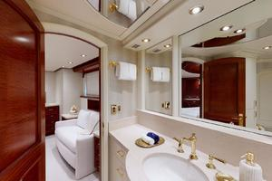 WONDER is a Crescent Raised Pilothouse Yacht For Sale in West Palm Beach-Master Bath-36