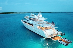 WONDER is a Crescent Raised Pilothouse Yacht For Sale in West Palm Beach-Stern view-1
