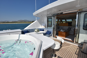 Blue Steele is a Cheoy Lee 103 Cockpit Sky Lounge Yacht For Sale in Cabo San Lucas-2011 Cheoy Lee 103' 103 Cockpit Motor Yacht - Blue Steele - Sky Lounge-62