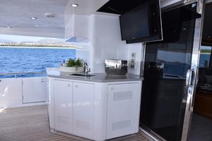 Blue Steele is a Cheoy Lee 103 Cockpit Sky Lounge Yacht For Sale in Cabo San Lucas-2011 Cheoy Lee 103' 103 Cockpit Motor Yacht - Blue Steele - Aft Deck-68