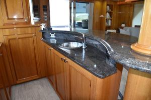 Blue Steele is a Cheoy Lee 103 Cockpit Sky Lounge Yacht For Sale in Cabo San Lucas-2011 Cheoy Lee 103' 103 Cockpit Motor Yacht - Blue Steele - Salon Bar-3