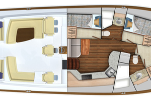 Cabin Layout (3-Stateroom Option)