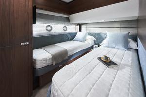 S66 Interior Starboard Guest Cabin Walnut Satin