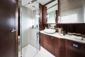 S62 Interior Forward Cabin Bathroom Walnut Satin