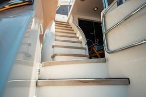 Hatteras 72 - Taz - Stairs to Bridge