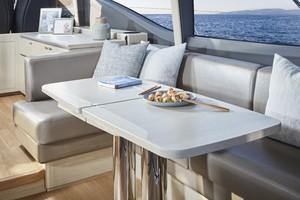 V60 Interior Dining Area Alba Oak Satin