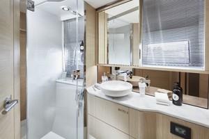 V60 Interior Forward Cabin Bathroom Alba Oak Satin