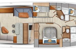 Viking 64 - Cabin Layout #2 (Crossover Berths)