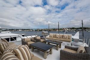 Broward 102 - Andiamo - Flybridge Deck Lounge