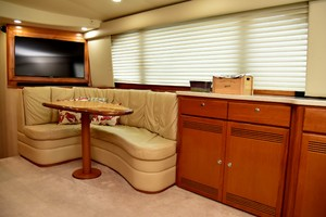 Cajun Queen is a Cabo 48 Convertible Yacht For Sale in Cabo San Lucas -2004 Cabo 48 Convertible - Salon / Dinette-4