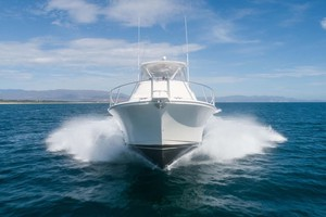 Satisfaction is a Cabo 48 Yacht For Sale in Cabo San Lucas-Bow Running-1