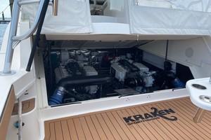 Kraken is a Albemarle 360 XF Yacht For Sale in Biloxi-2008 36 Albemarle 360XF Kraken Engine Room (1)-10