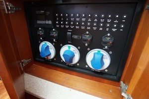 Dolphin IV is a Albemarle 360 Express Yacht For Sale in Orange Beach-Main Battery Switches-3