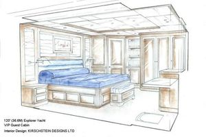 120' Inace Overing 2021 Guest Stateroom