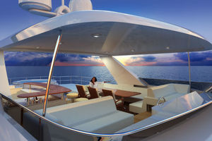 90' Custom Tri Deck Explorer Yacht 2020 Flybridge