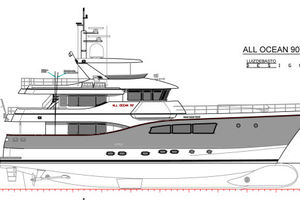 90' Custom Tri Deck Explorer Yacht 2020 Profile