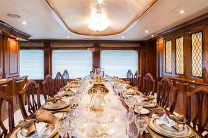155' Christensen 2001/2018 155ft 2001 Dining Detail
