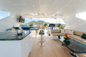 Sun Deck Facing Aft with Gym Equipment