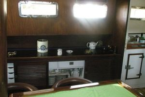74' Ortholan Argentina Classic Motorsailer Ketch 1939 Serving Cupboard