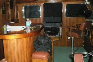 74' Ortholan Argentina Classic Motorsailer Ketch 1939 Wheelhouse Bar