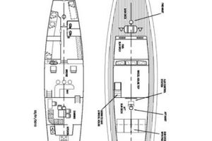 74' Ortholan Argentina Classic Motorsailer Ketch 1939 Layout Schematic