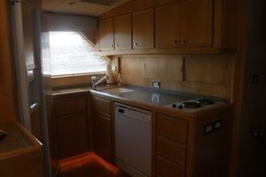 60' Bertram Enclosed Flybridge 1997 Galley