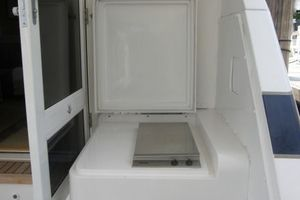 60' Bertram Enclosed Flybridge 1997 Cockpit Grill