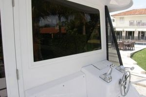 60' Bertram Enclosed Flybridge 1997 Exterior Helm Station
