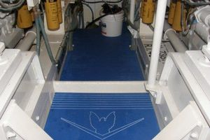 60' Bertram Enclosed Flybridge 1997 Engine Room Flooring