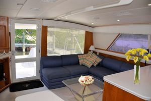 50' Bertram 50 Convertible 1990 Salon Looking Aft