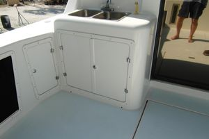 40' Bertram 40 1995 1995 Sportfish Cockpit Sink and Storage